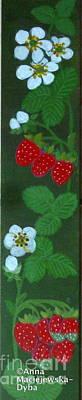 Painting - Strawberries by Anna Folkartanna Maciejewska-Dyba