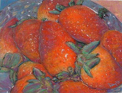 Mixed Media - Strawberries by Banning Lary