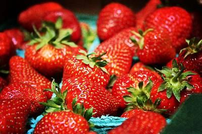 Strawberries Art Print by Cathie Tyler