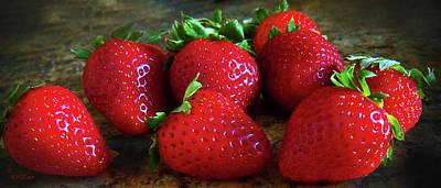Strawberries Art Print by Eileen Blair