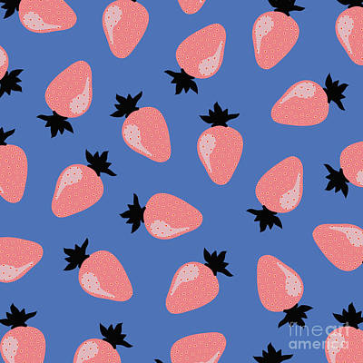 Strawberries Digital Art - Strawberries by Elizabeth Tuck