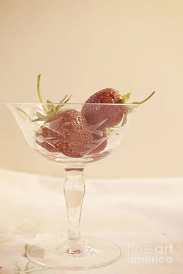 Photograph - Strawberries In A Glass by Cindy Garber Iverson