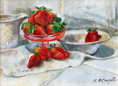 Painting - Strawberries In Cream by Michael McDougall