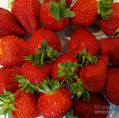 Photograph - Strawberries by Karen Jane Jones