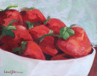 Painting - Strawberries by Lewis Bowman