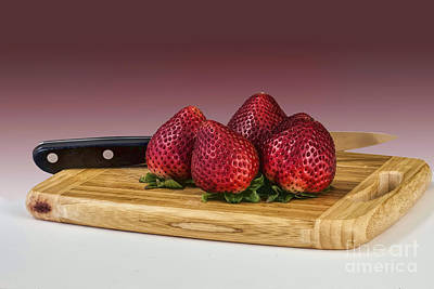 Photograph - Strawberries On The Block by Shirley Mangini