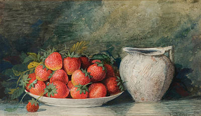 Painting - Strawberries by Celestial Images
