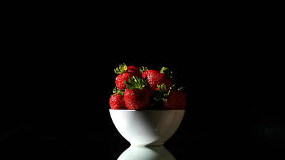 Strawberry Bunch Photograph - Strawberries Still Life by Michael Ledray
