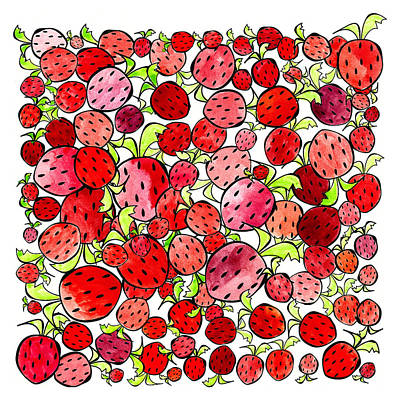 Strawberries Art Print by Tonya Doughty
