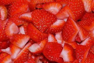 Photograph - Strawberries Waiting by Les Weber