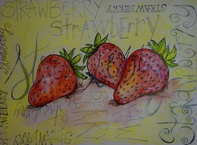 Strawberry Art Print by Anne Seay