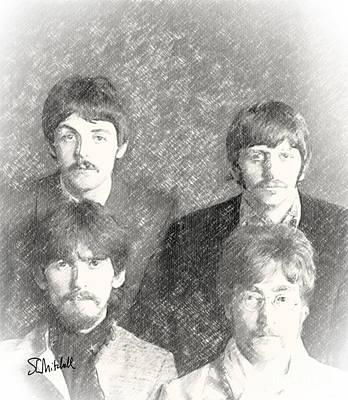 Strawberry Fields Drawing - Strawberry Beatles  by Stephen Mitchell