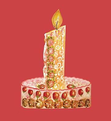 Strawberry Cake For Christmas Art Print by Thecla Correya