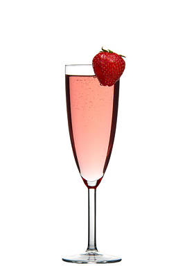 Wine Photograph - Strawberry Champagne by Gert Lavsen