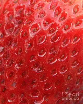 Strawberry Closeup Art Print by Carol Groenen