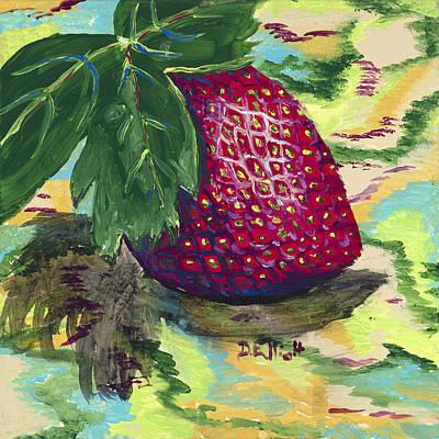 Strawberry Art Print by Davis Elliott