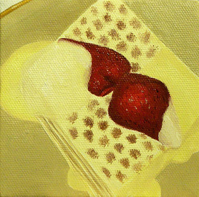 Painting - Strawberry Dessert by Kathy Lumsden