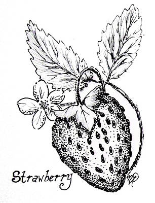 Drawing - Strawberry Dreams by Nicole Angell