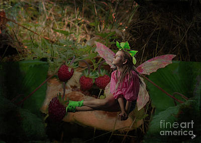Photograph - Strawberry Fairy by Sandra Clark