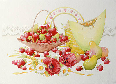 Strawberry Fayre Art Print by Lynette Carrington-Smith