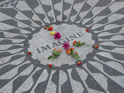 The Beatles Art Photograph - Strawberry Fields Central Park by Jim Ramirez