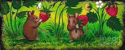 Painting - Strawberry Fields Forever by Margaryta Yermolayeva