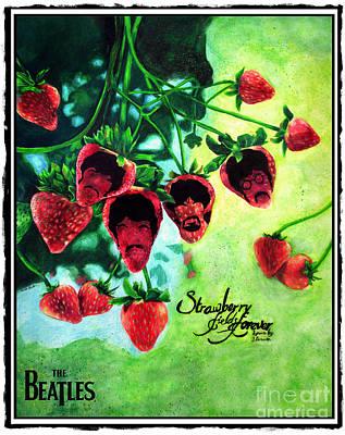 Strawberry Fields Drawing - Strawberry Fields 1 by Scott Parker