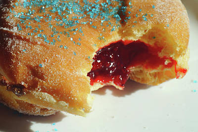 Photograph - Strawberry Filled Donut by Mike Murdock