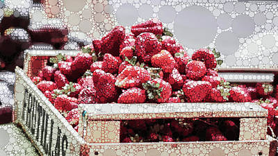 Mixed Media - Strawberry Fizz by Susan Maxwell Schmidt