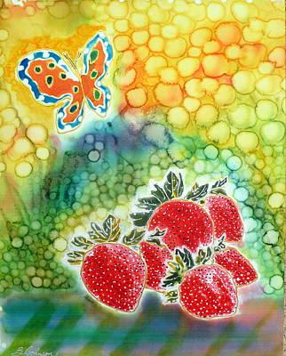 Strawberry Garden Art Print by Beverly Johnson