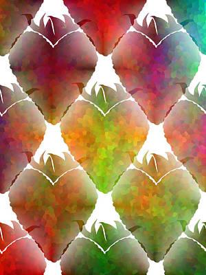 Food Art Digital Art - Strawberry Hearts by Kathleen Sartoris