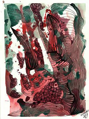 Drawing - Strawberry Jam by Julia Zoellner