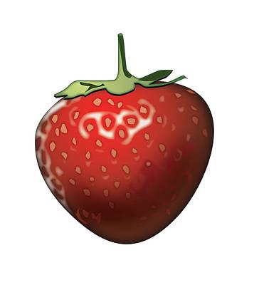 Strawberries Digital Art - Strawberry by Joe Roselle