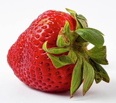 Strawberry Macro Art Print by Robert Ullmann