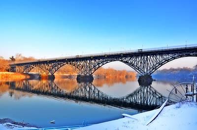 Strawberry Mansion Bridge  Art Print by Bill Cannon