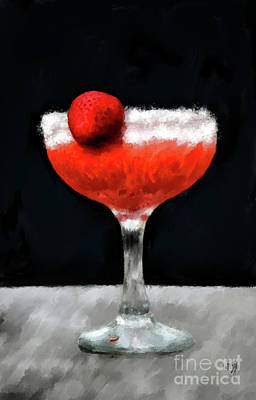 Digital Art - Strawberry Margarita by Lois Bryan