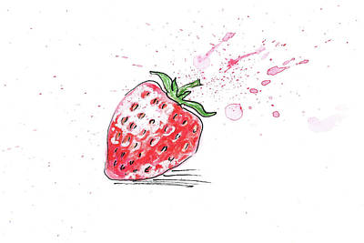 Painting - Strawberry by Masha Batkova