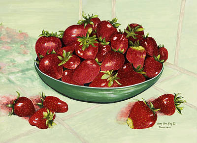 Strawberry Memories Art Print