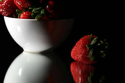 Strawberry Art Print by Michael Ledray