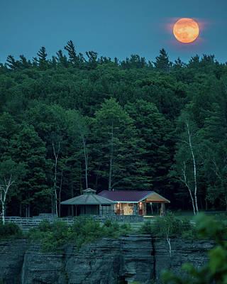 Photograph - Strawberry Moon by Brad Wenskoski