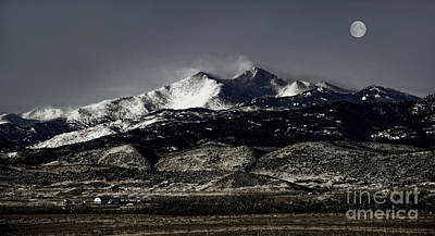 Photograph - Strawberry Moon Over Longs Peak by Jon Burch Photography