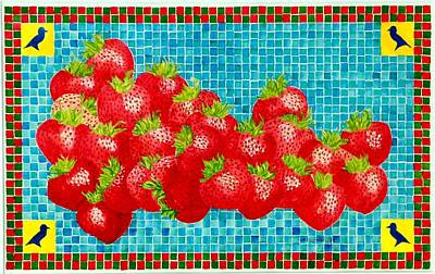 Painting - Strawberry Mosaic by Thomas Gronowski