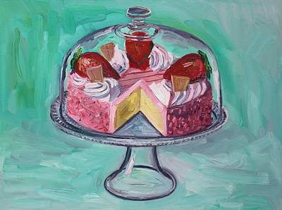 Strawberry Mousse Cake Art Print by John Kilduff