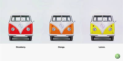 Strawberry. Orange. Lemon. Art Print by Mark Rogan