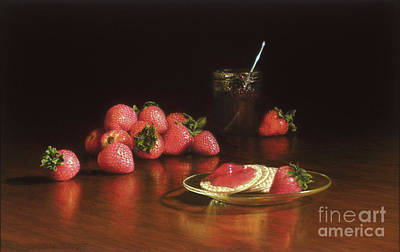 Strawberry Preserves Art Print by Barbara Groff