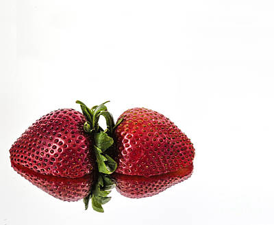 Photograph - Strawberry Reflections by Shirley Mangini