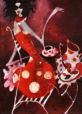 Painting - Strawberry Shake by Maya Manolova