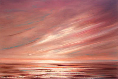 Painting - Strawberry Sky Sunset by Gina De Gorna