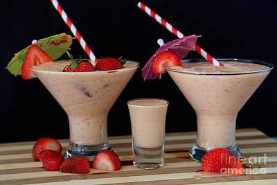 Strawberry Smoothies Original by Tracy Hall