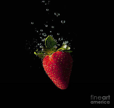 Photograph - Strawberry Splash by Eric Wiles